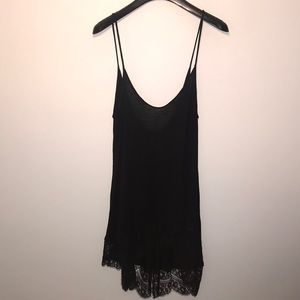 LF Black Emma & Sam Tank Top with Lace Bottom